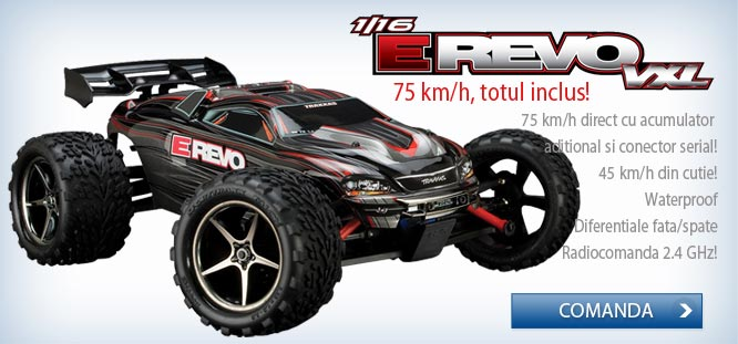 Masinuta electrica off-road 4x4 brushless E-REVO VXL, scara 1/16