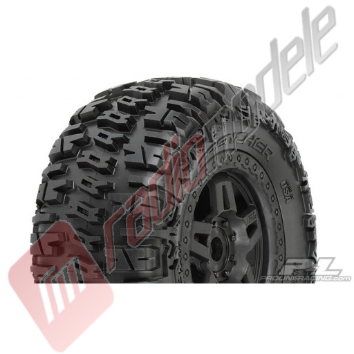 "Anvelope ProLine TRENCHER 3.8"" montate pe jante Tech 5, zero offset, hex 17mm"