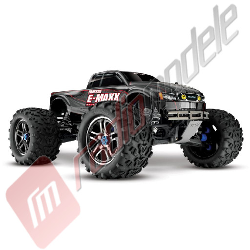 Automodel TRAXXAS E-MAXX BRUSHLESS WATERPROOF, radio 2.4Ghz TQi TSM, 100km/h!