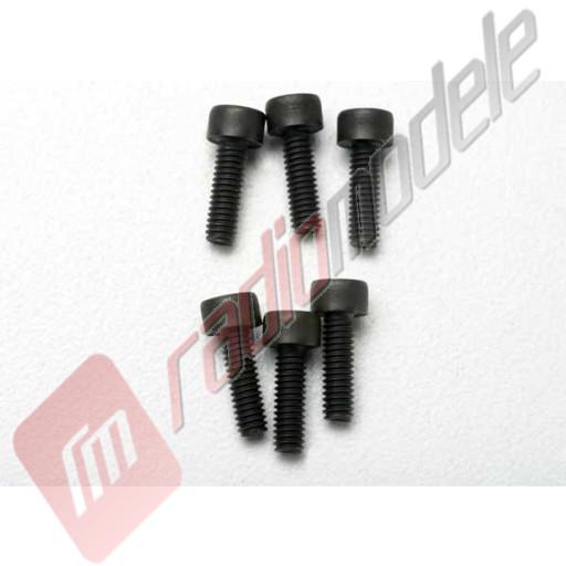 Suruburi hex cu cap cilindric, 2.5x8mm, pentru automodele TRAXXAS