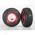 Set anvelope BFGoodrich® Mud-Terrain™ montate pe jante SCT Split-Spoke cromate, pentru automodele TRAXXAS