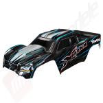 Caroserie vopsita albastru, pentru automodel Traxxas X-Maxx