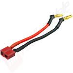 Cablu acumulatori hardcase cu mufe 4mm in unghi de 110 grade, mufa DEANS