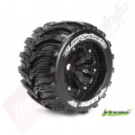 "Roti complete Louise RC MT-CYCLONE black pentru automodele monster truck scara 1/8 Traxxas Style Bead 3.8"", offset 1/2, hex 17mm"