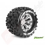 "Roti complete Louise RC MT-UPHILL cu jante cromate pentru monster truck scara 1/8 Traxxas Style Bead 3.8"", offset 1/2, hex 17mm"