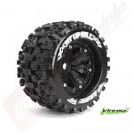 "Roti complete Louise RC MT-UPHILL cu jante negre pentru monster truck scara 1/8 Traxxas Style Bead 3.8"", offset 0, hex 17mm"
