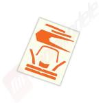 Sticker, portocaliu, pentru drona Traxxas Aton