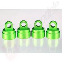 Capete (capace) amortizoare aluminiu verde TRAXXAS
