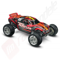Automodel termic off-road TRAXXAS Nitro RUSTLER, 2.4GHz cu incarcator 12v si TSM