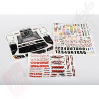 Foaie autocolante pentru automodele TRAXXAS Slash 4x4