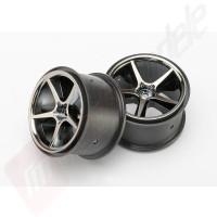 Jante Gemini (negru cromat ) (2buc),automodel TRAXXAS E-Revo 1/16