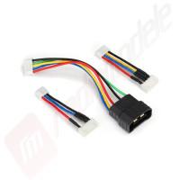 Cablu adaptor incarcare baterii LiPo 2S, 3S si 4S cu conector TRAXXAS ID