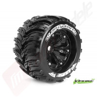 """Roti complete Louise RC MT-CYCLONE black pentru automodele monster truck scara 1/8 Traxxas Style Bead 3.8"""", offset 1/2, hex 17mm"""