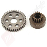 Kit clopot ambreiaj 15 dinti + spur 38T (standard, din otel calit) pentru Revo 3.3, Robinson Racing
