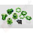 Set complet hex-uri 17mm aluminiu (verde-anodizat), pentru automodele TRAXXAS 1/10